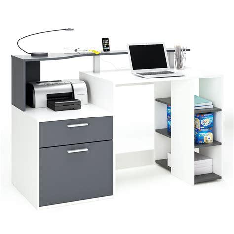 bureaux cdiscount bureau informatique 1tiroir 1porte 1étagère l139 8xh91cm