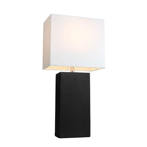 white table l shade elegant designs monaco avenue 21 in modern black leather