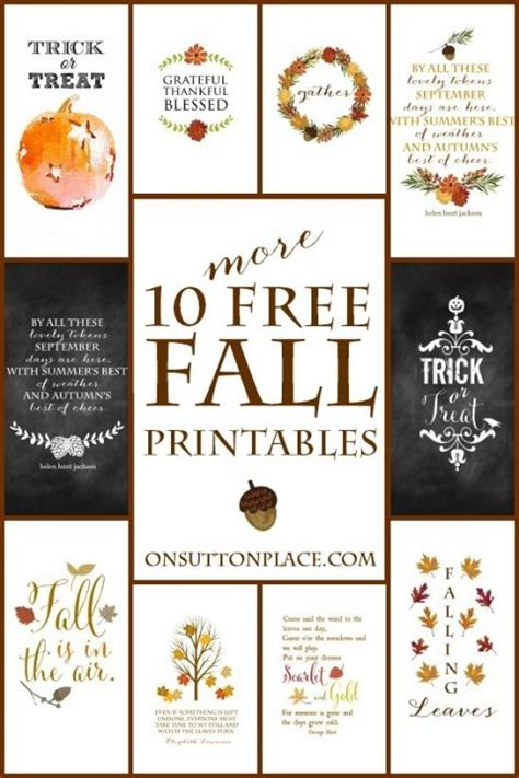 10 More Fall Printables  Diy Wall, Crafts And Free Printables