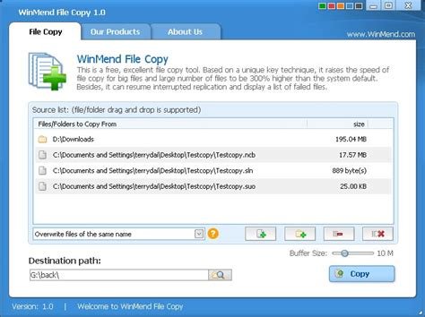 winmend file copy copy tool mit resume funktion dr