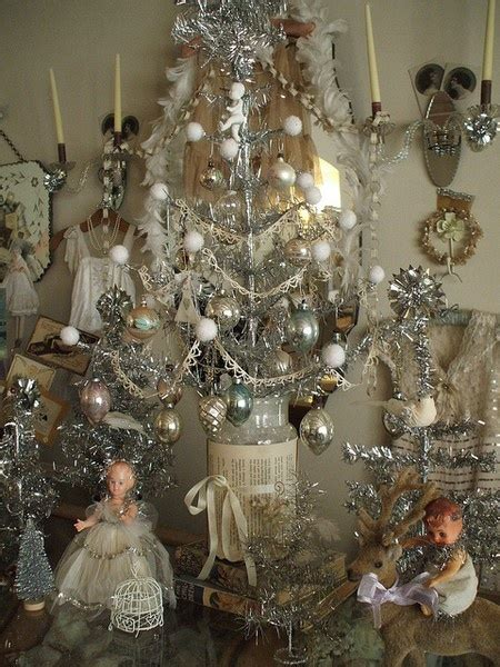 images  tinsel christmas trees  pinterest