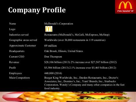 McDonalds Corporation Strategic Management Analysis