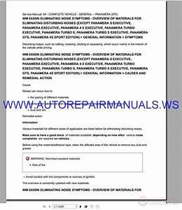Porsche Panamera Service Manual 2010