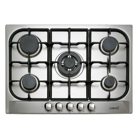 plaque en inox cuisine plaque de cuisson gaz 5 foyers inox cata apelson l705ti