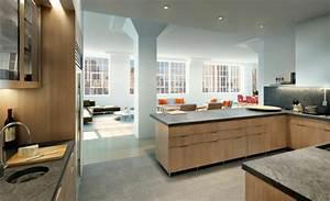 Modele de cuisine ouverte sur salle a manger cuisine en for Meuble de salle a manger avec modele cuisine amenagee