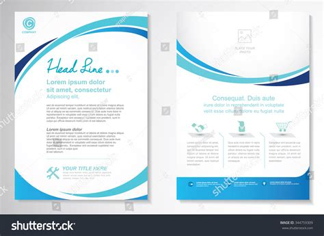 create page template vector brochure flyer design layout template stock vector 344759309