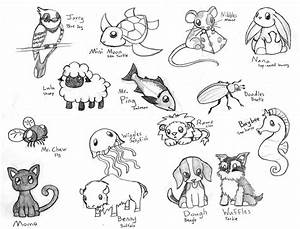 Cute Animal Sketches Easy | Wallpapers Gallery
