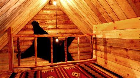diy wood railing   loft    grid log cabin