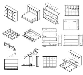 horizontal house plans plans to build your own murphy bed