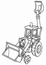 Digger Coloring Pages Getcoloringpages Cartoon Tractor Backhoe sketch template
