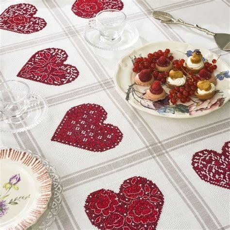 канва аида скатерть 171 сердечки 187 для вышивания крестом les brodeuses parisiennes