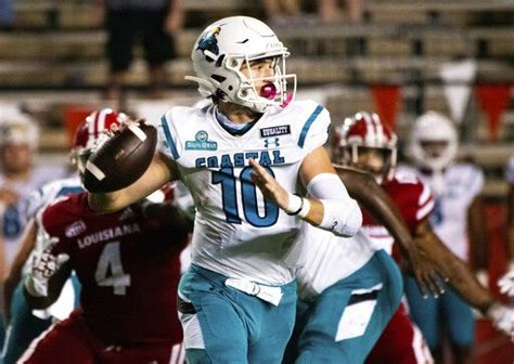 No. 25 Coastal Carolina minus injured starting QB McCall