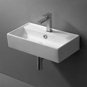 Handwaschbecken Gäste Wc : lux aqua design keramik waschtisch waschbecken zur wandmontage 4335 ebay ~ Markanthonyermac.com Haus und Dekorationen