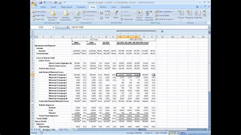 build  basic financial projection business