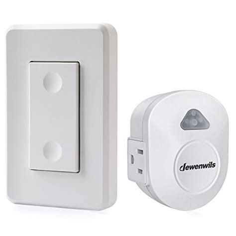 dewenwils wireless wall switch remote outlet electrical remote light switch for