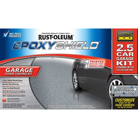 garage floor paint kit lowes shop rust oleum epoxyshield 2 part gray gloss garage floor epoxy kit actual net contents 240