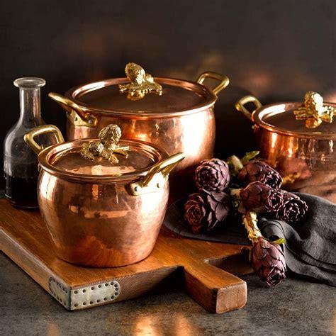 ruffoni cookware sonoma williams copper pots italian european spotlight brass kitchenware square stove kitchens tuscan italy april