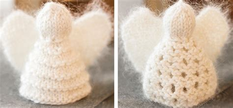 knitted christmas angel ornaments  knitting pattern