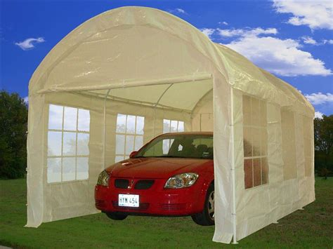 party tent canopy carport car shelter  walls cp white ebay