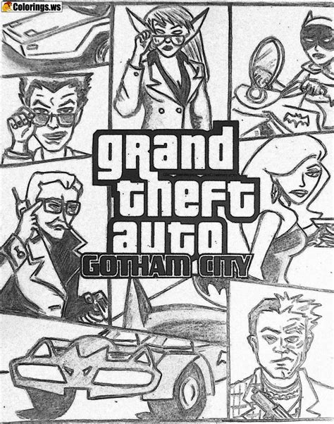 Gat Kleurplaat by Gta 5 Coloring Pages Gotham City Gta 5 Coloring Pages