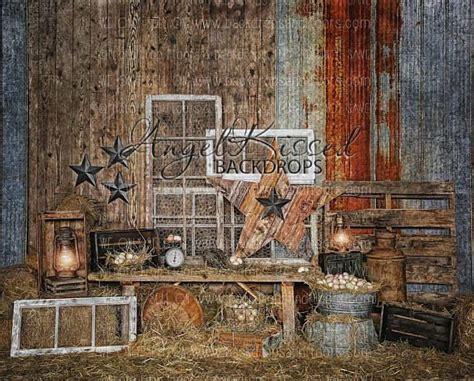 rustic farm photography backdrop  barn spring farm