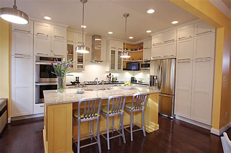 contemporary townhouse kitchen transitional kitchen