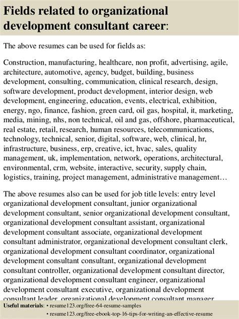 Organizational Development Consultant Resume Objective by Top 8 Organizational Development Consultant Resume Sles