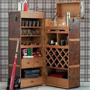 Meuble Bar Maison Du Monde : meuble de bar avec tiroirs en cuir jules verne maisons ~ Nature-et-papiers.com Idées de Décoration