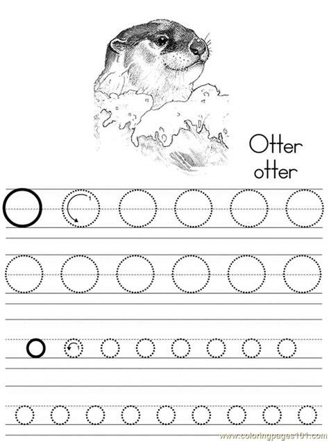 alphabet abc letter  otter coloring pages   coloring