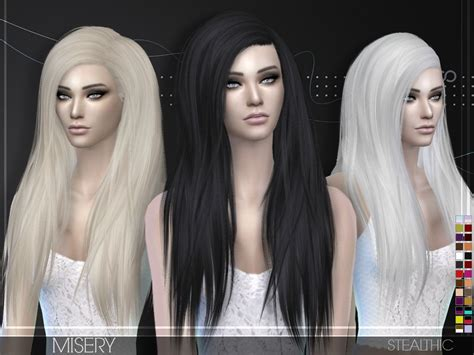 stealthic misery hairstyle sims sims sims  sims  mods