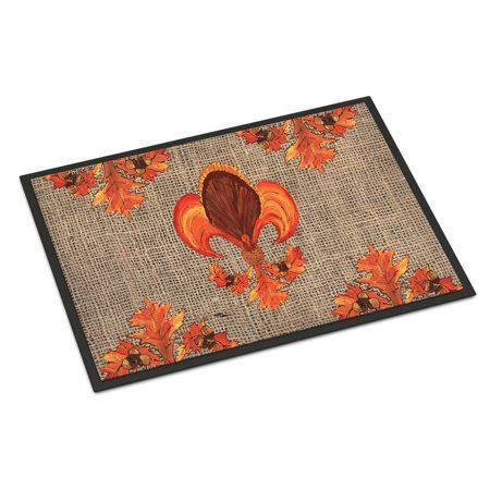 Thanksgiving Doormat by Thanksgiving Turkey Fleur De Lis Door Mat Doormat