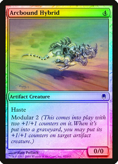 We offer a wide selection of mtg cards, from old to new, whatever you need. Arcbound Hybrid FOIL Darksteel NM-M Artifact Common MAGIC MTG CARD ABUGames   eBay