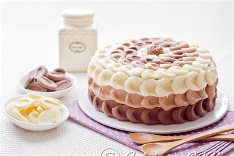 cuisine patate douce gâteau à étages aux 3 chocolats layer cake cuisine