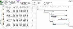 Microsoft Project Planned Vs Actual Gantt Chart Setting Up A Baseline In Microsoft Project 2013