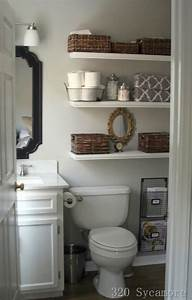 Shelves over toilet cottage bathroom glidden fossil for Best brand of paint for kitchen cabinets with tj maxx wall art