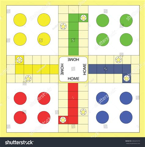 ludo board game stock vector  shutterstock