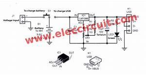 Power Bank Mobile Charger Circuit Using Lm1086