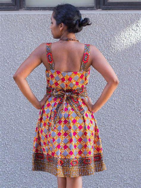 Robe Wax Africain Robe En Wax Tissu Pagne Africain Avec Ouverture Ceinture En Coton Cd014 Dress