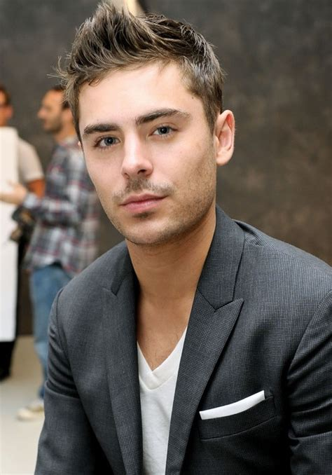 zac efron spiky textured haircut  men hairstyles weekly