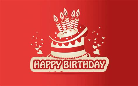 birthday red hd wallpaper hd wallpapers