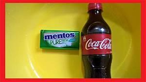 Coca Cola And Mentos Experiment Youtube