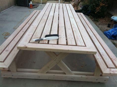 ft picnic table   doug fir woodworking