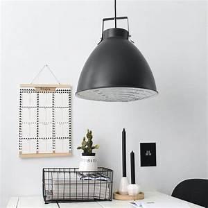 Suspension Luminaire Noir : suspension industrielle seattle noire 40 cm ~ Teatrodelosmanantiales.com Idées de Décoration