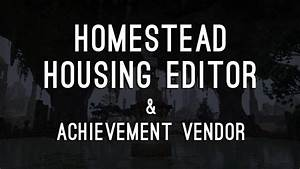 Housing Editor & Achievement Vendor - ESO Homestead - YouTube
