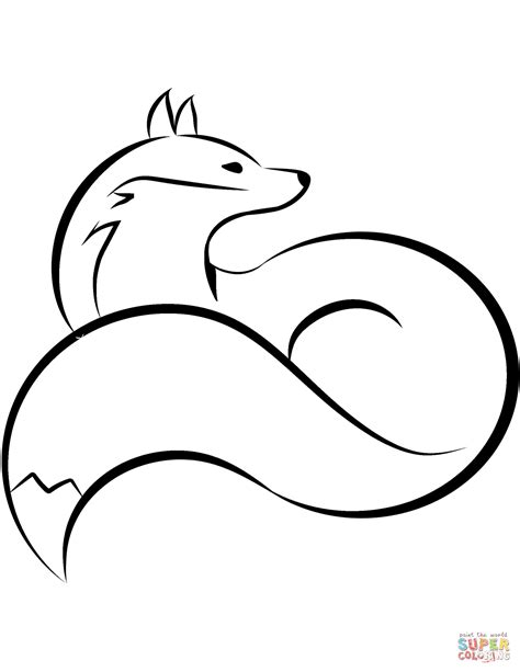 fox coloring pages curled fox coloring page free printable coloring pages