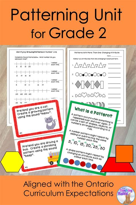 Patterning Unit For Grade 2 (ontario Curriculum)  The Teaching Rabbit's Educational Resources