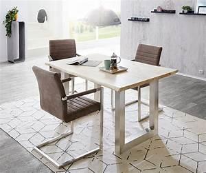 Baumtisch Live Edge : baumtisch live edge 140x90 akazie gebleicht platte 3 5 cm gestell breit m bel tische esstische ~ Sanjose-hotels-ca.com Haus und Dekorationen