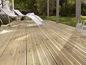 Lame De Bois Pour Terrasse : poser une terrasse en lames bois wikifab ~ Premium-room.com Idées de Décoration