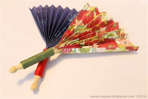 how to make a hand fan make quick pretty hand fans