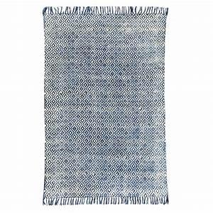 tapis en coton indigo tisse main tikola drawer With tapis coton tissé